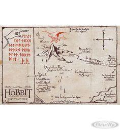 The Hobbit Poster Karte Lonely Mountain Map Hier bei www.closeup.de