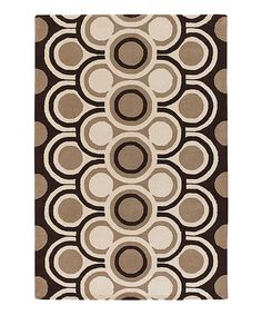 Take a look at this Brown & Cream Fresca Rug by Chandra on #zulily today!