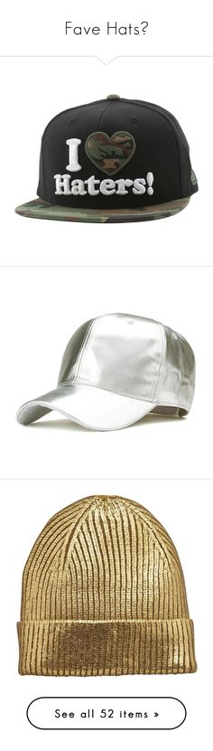 """Fave Hats💗"" by nattiexo ❤ liked on Polyvore featuring accessories, hats, caps, cartoon baseball hat, snapback cap, rubber cap, comic book, logo hats, ball cap and ball cap hats"