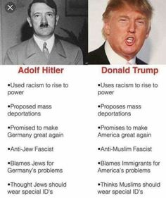 Melania Trump just said Donald Trump is not Hitler. But can you tell your Trump quotes from your Hitler quotes? We Are The World, Thats The Way, Reality Check, Caricatures, Just In Case, Donald Trump, Donald Duck, Presidents, Thoughts