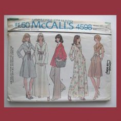 $3.00, 3.00 shipping.  McCall's Vintage Sewing Pattern, #4598, Size 8, 1975, Misses Dress,Top,Pants.  #VintageSewingPattern