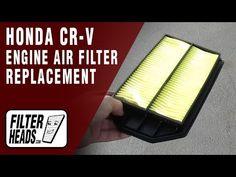 Engine Air Filter Replacement 2008 Honda CR-V L4 2.4L