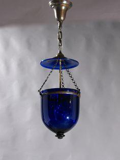 Cobalt Blue Bell Jar Lantern