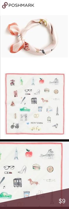 J.CREW New York Vintage Bandana/Scarf 👄 100% Cotton New with tags Comes in original packaging  Vintage/Classic Style can we worn in many different ways J. Crew Accessories Scarves & Wraps