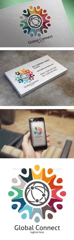 Global Connect Logo — PSD Template #network #link • Download ➝ https://graphicriver.net/item/global-connect-logo/18398516?ref=pxcr