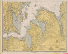 Long Island Sound and East River Historical Map - 1939 (2)