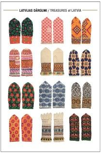 Latvian mittens and gloves