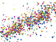 Wall Mural abstract illustration of colorful balls isolated on white - Photo Wallpaper • PIXERSIZE.com