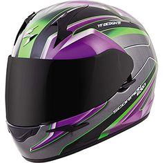 Scorpion EXOR410 UnisexAdult Full Face Motorcycle Helmet PurpleSilver Medium Kona -- ** AMAZON BEST BUY ** #AutomotiveHelmets
