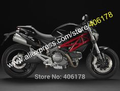 Hot Sales,For Ducati 696 795 796 M1100 2009-2013 Monster 1100 1100S Black New ABS Bodywork Fairing (Injection molding)