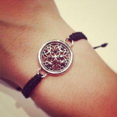 Charm macrame bracelet by AroundMyWrist on Etsy, 11.95