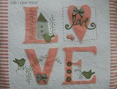 Ulla's Quilt World: Love quilt + pattern, pillow