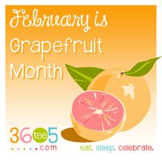 February is National Grapefruit Month List Of All Holidays, Wacky Holidays, Special Day Calendar, February Month, Grapefruit, Holiday Recipes, Florida, Good Things, Celebrities