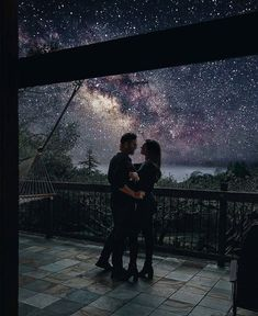 Kiss you under a galaxy sky