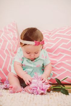 Modern Moni: Hola Mama Bowtique // Abigail Bow headband from #holamamabowtique @chacha63d. Soft and comfortable with just the right amount of #bling! #babystyle