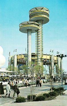 World's Fair, Flushing Meadows, the New York State Pavilion (designed by Philip Johnson), c. 1964
