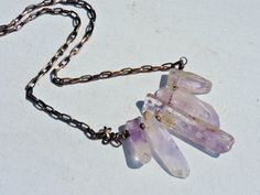 Ametrine Rough Stick Necklace by GeishaCreations on Etsy