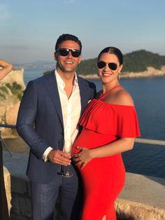 red maternity dress. maternity. croatia