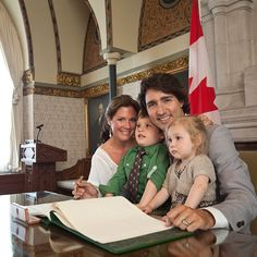 Prime Minister Justin Trudeau and his wife Sophie Gregoire-Trudeau and children ,Little and perch sweetly on dad's lap and DuchessofCambridge# PrinceWilliam MinisterJustinTrudeau SophieGregoireTrudeau Justin Trudeau Family, Justin Trudeau Young, Emanuel Macron, Liberal Party Of Canada, Inspirational Leaders, We Are Family, Happy Family, Premier Ministre, O Canada