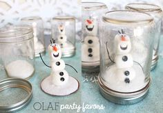 "Olaf Snow Globe | 14 Must-Have Ideas For Throwing Your Own ""Frozen"" Themed Party"