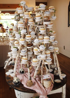 birch cupcake stand