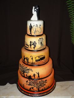 Love Story Wedding Cake