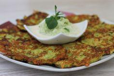 Zeleninové placky s tzatziky Tzatziki, Mashed Potatoes, Cooking, Breakfast, Ethnic Recipes, Basket, Whipped Potatoes, Kitchen, Morning Coffee