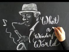 白チョーク1本で描く黒板アートとチョークレタリング(chalkart&chalklettering)