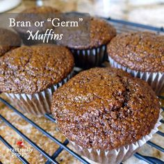 Use Coconut Oil Daily - - These delicious molasses-y muffins can be made with wheat bran or wheat germ 9 Reasons to Use Coconut Oil Daily Coconut Oil Will Set You Free — and Improve Your Health!Coconut Oil Fuels Your Metabolism! Muffin Recipes, Baking Recipes, Dessert Recipes, Amish Recipes, Sweet Desserts, Cookie Recipes, Cupcakes, Cupcake Cakes, Raisin Bran Muffins
