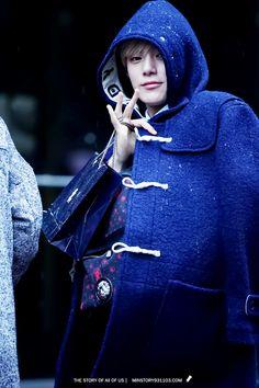 yeah...that's Monsta X — daily-monsta-x:   Saturday: Minhyuk wearing hoods...