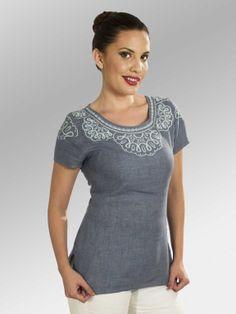 Blusa Cebelia #moda #lino #SS2014 www.abito.com.mx
