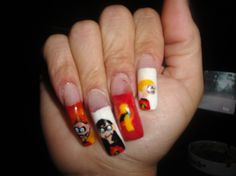 The Incredibles nail art