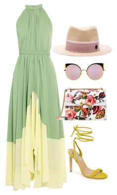 """""""Lemon Or Lime?!?"""" by la-harrell-styling-co on Polyvore featuring Saloni, Steve Madden, Gucci, Fendi and Maison Michel"""