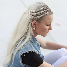 Half back French braids
