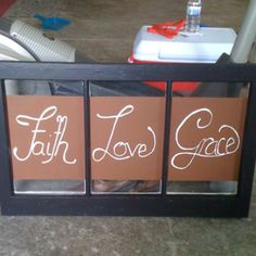 Old Window-Hand Painted