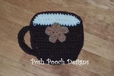 Coffee Cup Hot Pad Crochet Pattern (free)