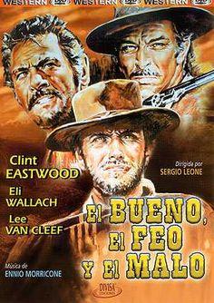 """""""El #bueno el #feo y el #malo"""" dirigida por Sergio Leone y estrenada en el año 1966"""