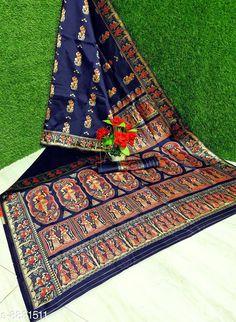 Sarees Palash Trendy Woven Tussar Silk Baluchari Style Saree  Saree Fabric: Tussar Silk Blouse: Running Blouse Blouse Fabric: Tussar Silk Pattern: Woven Design Multipack: Single Sizes:  Free Size (Saree along with running blouse 6.3m) Country of Origin: India Sizes Available: Free Size   Catalog Rating: ★4.1 (460)  Catalog Name: Myra Graceful Sarees CatalogID_1512893 C74-SC1004 Code: 146-8831511-