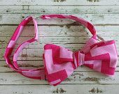 Fully Adjustable Mens Bowtie in Pink Chevron! Only $14.99!!!!  www.etsy.com/shop/modebows