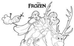 Frozen: disegni da stampare e colorare - I protagonisti di Frozen