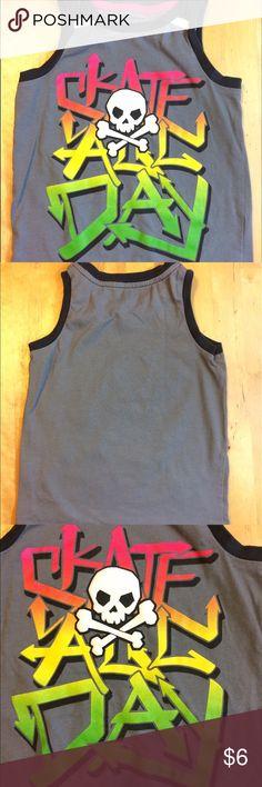 Boy's HEALTHTEX Skater Tank / Shirt Boy's HEALTHTEX Graphic Tank - Gray - Skater - 100% Cotton - 3T Shirts & Tops Tank Tops