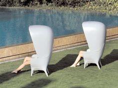 Poltrona de jardim de polietileno com encosto alto SHOWTIME | Poltrona de jardim - BD Barcelona Design