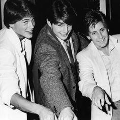 Rob Lowe, Tom Cruise, and Emilio Estevez