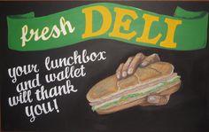 Trader Joe's Deli Chalkboard Sign by sueism1, via Flickr