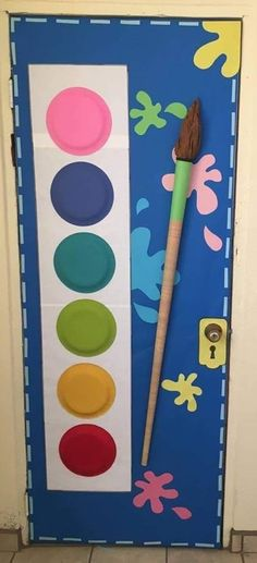 Super Ideas For Classroom Door Decorations Winter Cute Ideas - New Deko Sites Diy And Crafts, Crafts For Kids, Paper Crafts, Kunst Party, Paint Themes, Toddler Classroom, School Decorations, Classroom Themes, Art Classroom Door