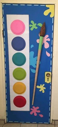 Super Ideas For Classroom Door Decorations Winter Cute Ideas - New Deko Sites Art Classroom Door, Classroom Themes, Preschool Classroom, Toddler Classroom Decorations, Art Room Doors, Paint Themes, School Decorations, Art Party, Elementary Art
