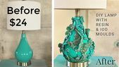 #Butterfly #DIY #IOD #Lamp #moulds #Resin #YouTube Butterfly Lamp, Resin, Antiques, Youtube, Blog, Home Decor, Wedding, Antiquities, Antique