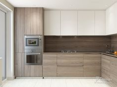 i dont think i like the bottom color Kitchen Room Design, Kitchen Cabinet Design, Modern Kitchen Design, Living Room Kitchen, Home Decor Kitchen, Interior Design Kitchen, Home Kitchens, Modern Kitchen Interiors, Modern Kitchen Cabinets