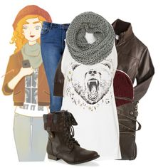 Punziella's College AU Merida by captaincatwoman on Polyvore featuring Forever New, Aéropostale, Mossimo Supply Co., Xhilaration and Big Baby
