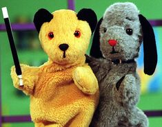 Sooty and Sweep on children's TV 1970s Childhood, My Childhood Memories, Old Tv Shows, 80s Kids Tv Shows, 90s Nostalgia, Barbie, My Memory, My Children, Vintage Toys